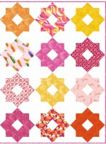 "Garden Delight Pink Quilt by Susan Emory /54""x72"""