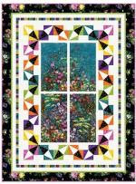 "Garden View Quilt by Wendy Sheppard /53""x71"""