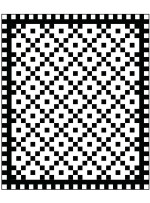"Going in Cirlces Black and White Quilt by Seams like a Dream /62""x74"""