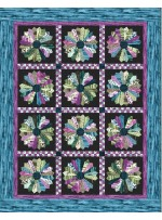 """Strata Granite Blooms Basil Quilt by Heidi Pridemore /59""""x75"""""""