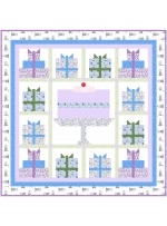 "Happy Birthday Lilac Quilt by Natalie Crabtree /68-1/2""x68-1/2"""
