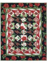 "Happy Holly Days Quilt by Marinda Stewrat /40""x51"""