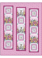 "Haute Couture Pink Quilt by Christine Stainbrook /60""x75"""