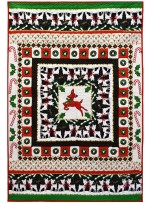 "Hello, My Deer Quilt by Marinda Stewart /42""x61"""