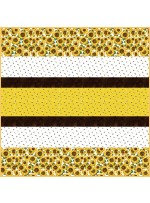 Hello Sunshine MINKY Strip Quilt - Free pattern available in August