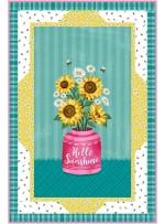 """Panel Frames Hello Ssunshine Quilt by Swirly Girls Design - 36""""x54"""