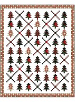 "Holiday Forest Quilt by Wendy Sheppard /66""x82"""