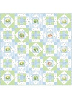 "Hop Along - Blue Quilt by Susan Emory /50""x50"" - Instructions Coming Soon"