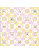 "Hop Along - Pink Quilt by Susan Emory /50""x50"""