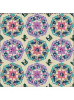 """Hummingbirds and Hibiscus Quilt by Heidi Pridemore /60""""x60"""""""
