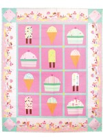 "Ice Cream, You Scream Quilt by Joanna Marsh /56""x69"""