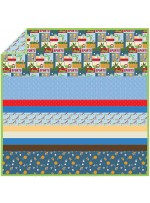 Jungle Sports - Minky Strip Quilt /58x58""