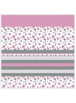 "Jungle Dream Fuschia- Strip Quilt /58""x58"""