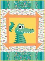 "Sammy's Safari alligator - jungle safari quilt by Sassfras Lane Designs 40""x54"""