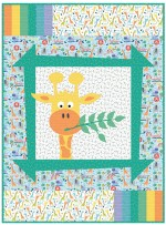 "Sammy's Safari - jungle safari quilt by Sassfras Lane Designs 40""x54"""