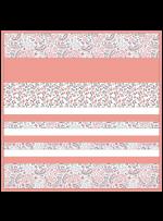 "Kashmir Coral -MINKY Strip Quilt /58x58"""