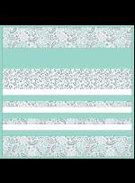 """Kashmir Mint -MINKYStrip Quilt /58x58"""""""