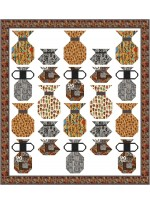 """Pottery Maker Quilt by Natalie Crabtree 65""""x72"""""""