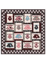 """Grandma's in the kitchen quilt by penni Domikis 60""""x60"""""""