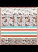 "Kodiak Bear Grey - Strip Quilt /58""x58"""