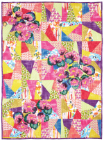 """Koi Pond Garden Mosaic by Marinda Stewart /40""""x56"""""""