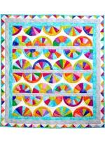"Krystal fans Quilt by Marsha Evans Moore /27.5""x51.5"""