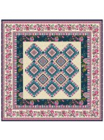 "Provencial La Fleur Tiles Fuzzy Cut Border Taupe Quilt by Diane Nagle /48""x48"" - Instructions coming soon"
