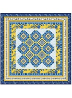 "Provencial La Fleur Tiles Blue Quilt by Diane Nagle /48""x48"" - Instructions Coming soon"