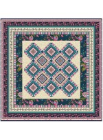 """Provencial La Fleur Tiles Taupe Quilt by Diane Nagle /48""""x48"""""""