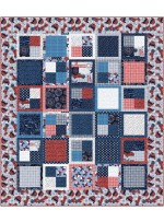 """fat Quarter Four-Patch land that I love quilt by Swirly Girls Design 62""""x72"""""""