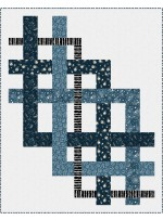 "Cascade - Light Up my World Quilt by Canuck Quilter Designs 55""x70"""