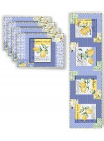 Limoncello Placemats & Runner by Poorhouse Quilt Designs
