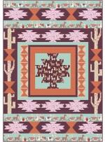 "desert quilt - llama love by tamarinis /50""x72"""