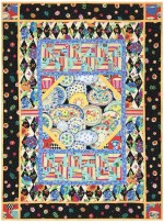 """Lots of Dishes Quilt /42""""x56"""" by Marinda Stewart"""