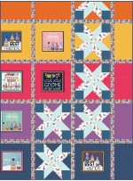 """Exploding 4 Patch Love You! Gnome-Atter What Quilt by Everyday Stitches - 60""""x80"""""""