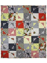"Magic Star Quilt - Sandpipers by Aneela Hoey / Quilted by Marinda Stewart / 51""x59"""