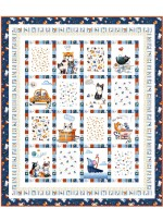 "Meow About Town Quilt by Wendy Sheppard /43-1/2x54-1/2"" - Instructions Coming Soon"