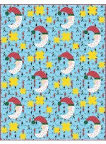 """Half Moon Santa - Most Wonderful Time of the Year Quilt by Everyday Stitches 56""""x72"""""""