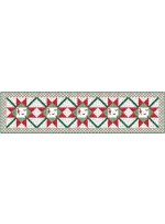"""Over Under Again Table Runner - most wonderful time of the year quilt by Swirly Girls Design 16""""x64"""""""