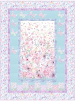 """butterflies are free quilt by the fabric addict 50""""x67"""""""