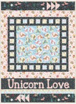 "Lullaby Lane - My Unicorn Loves Quilt by Sassafras Lane Designs 34""x52"""