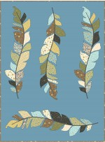 """skylark - nature's choir quilt by sewn wyoming /56""""x75"""""""