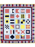 "Nautical Alphabet Quilt  sewn by Nancy Iacono   /58""x66"""