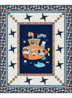 """Sea World - Nautilus Quilt by project House 360 45""""x55"""" - free Pattern Available in February, 2022"""