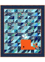 """Whale of a Tail - Nautilus Quilt by on Willioams Street 39.5""""x45.5"""""""