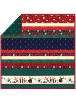 "Nutcracker - MINKY Strip Quilt /58""x58"""