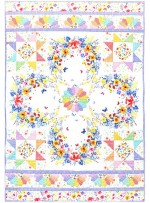 Of Gardens and Wreaths Quilt by Marinda Stewart / 41.5x58.5""