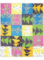 "Monkey Business Quilt by Abby Lane / Pieced by Nancy Iacono /51""x65"""