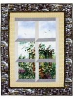 "Overlooking the Rose Arbor Quilt by Marinda Stewart   /42""x54"""