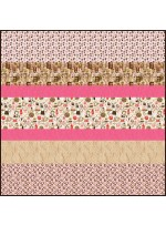 """Perk Up MINKY Strip Quilt 57""""x57""""- Free Pattern Available in November"""